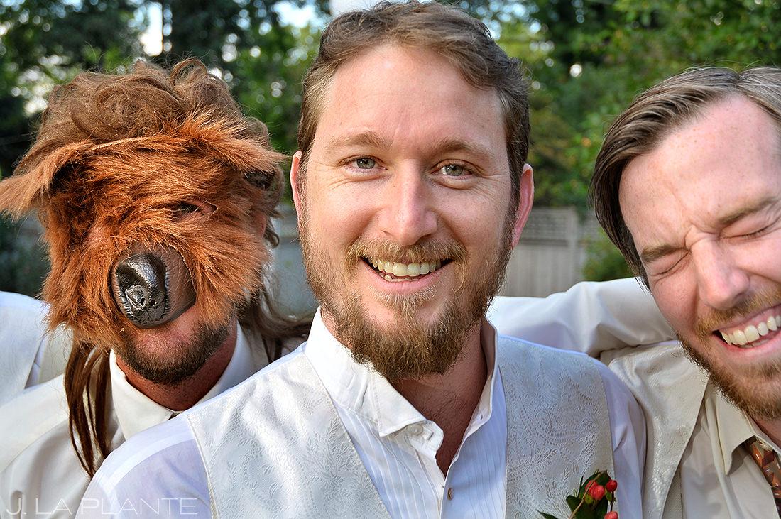 Groomsmen Pranking Groom | Koenig Alumni House Wedding | Boulder Wedding Photographer | J. La Plante Photo
