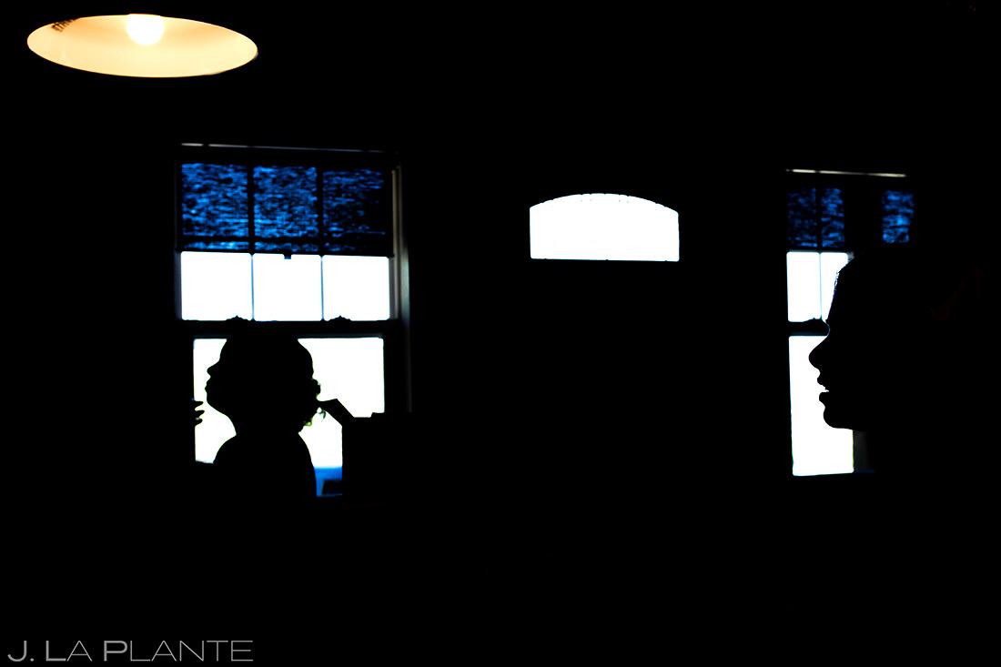 white owl ranch wedding silhouette photo