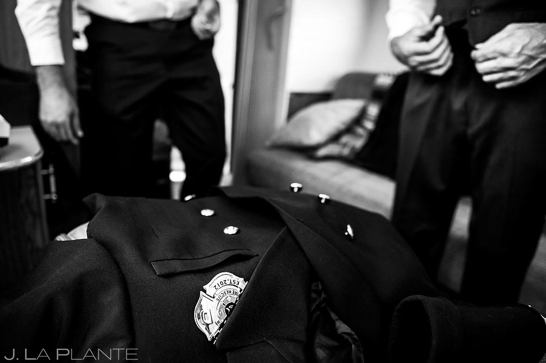 fireman wedding in Glenwood Springs