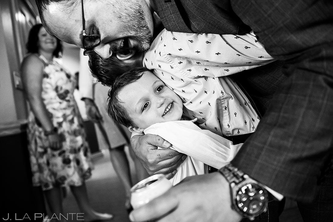 Groom Hugging Nephews | Beaver Creek Lodge Wedding | Beaver Creek Wedding Photographer | J. La Plante Photo