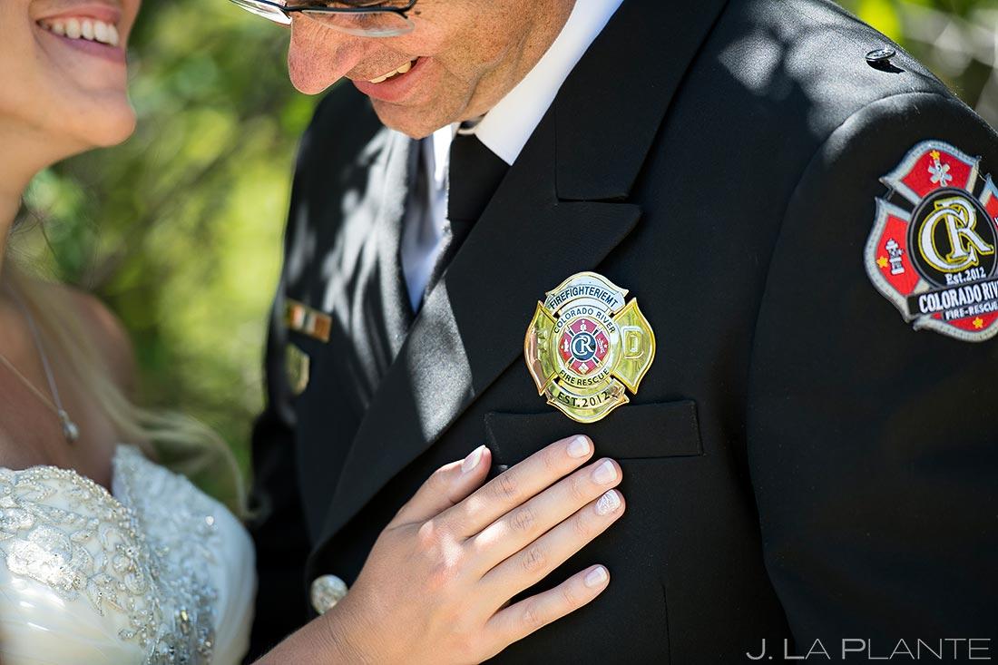 fireman wedding photo details