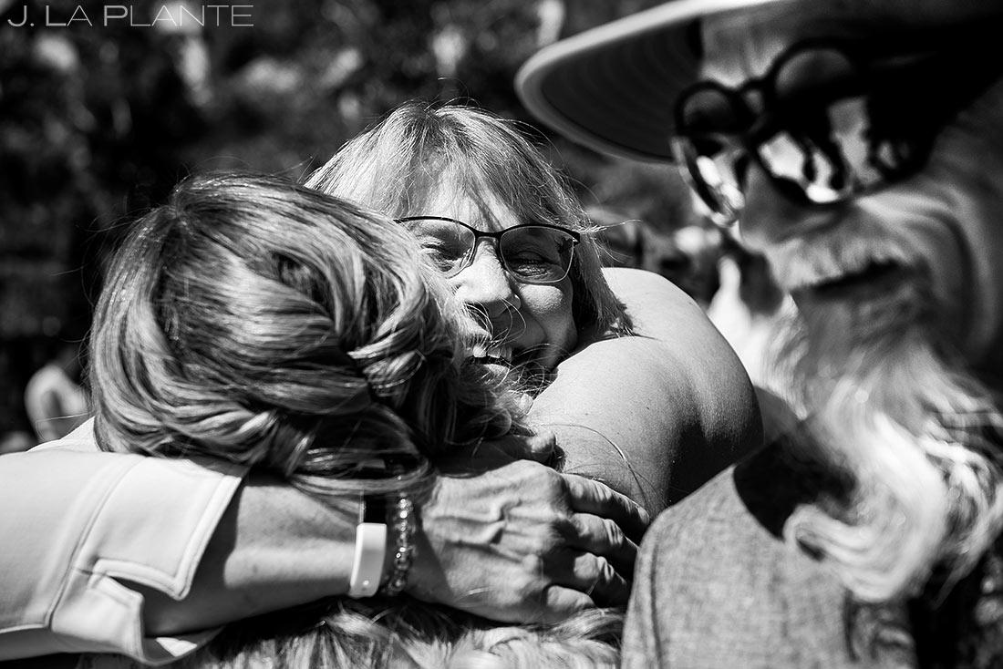 Bride Hugging Mother of the Groom | Mountain Wedding Ceremony | Colorado Wedding Photographer | J. La Plante Photo