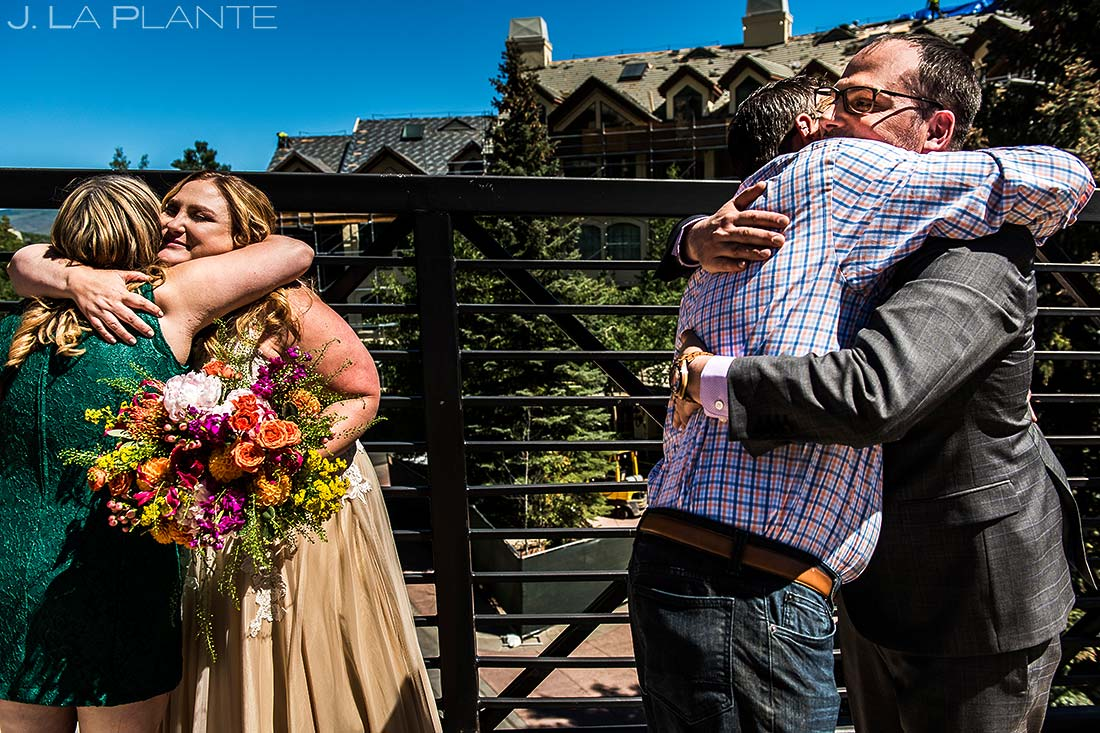 Receiving Line | Beaver Creek Skier Bridge Wedding Ceremony | Beaver Creek Lodge Wedding | Beaver Creek Wedding Photographer | J. La Plante Photo