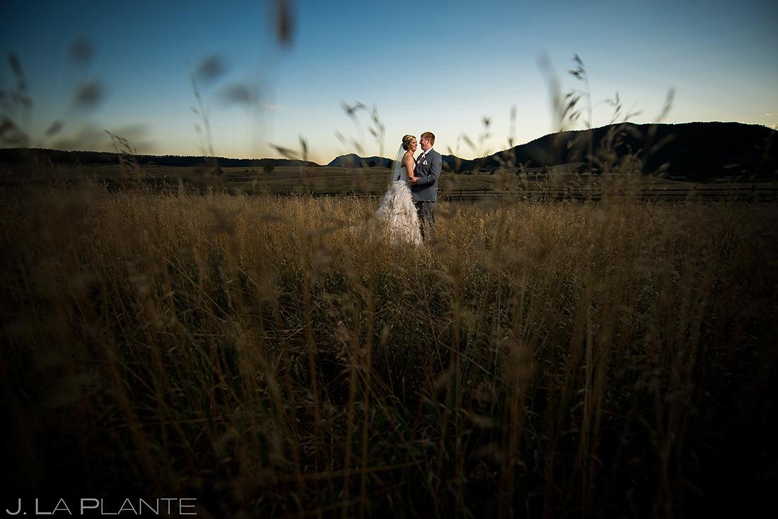 Sunset Wedding Photo | Spruce Mountain Ranch Wedding | Colorado Wedding Photographer | J. La Plante Photo