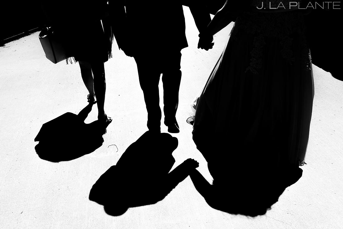Bride and Groom Leaving Ceremony | Colorado Wedding Photographer | J. La Plante Photo