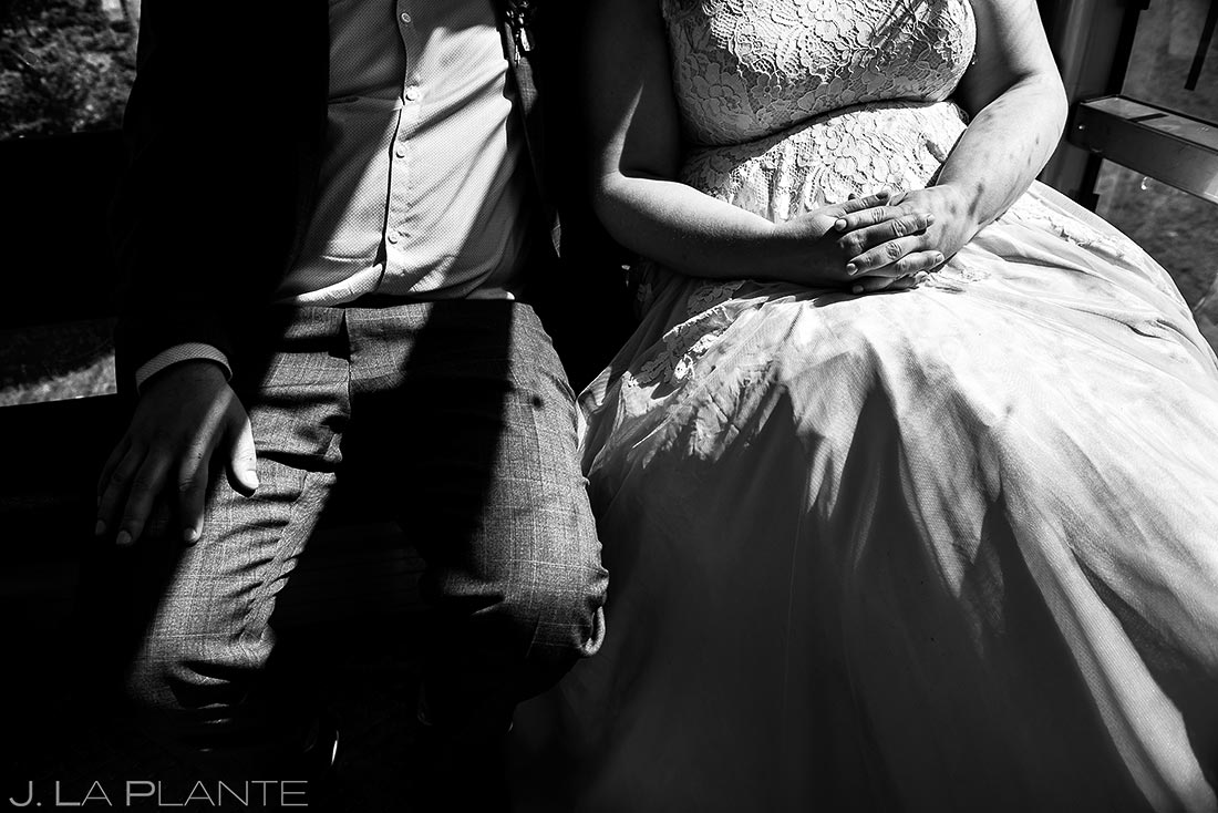 Bride and Groom Riding Gondola | Beaver Creek Lodge Wedding | Beaver Creek Wedding Photographer | J. La Plante Photo