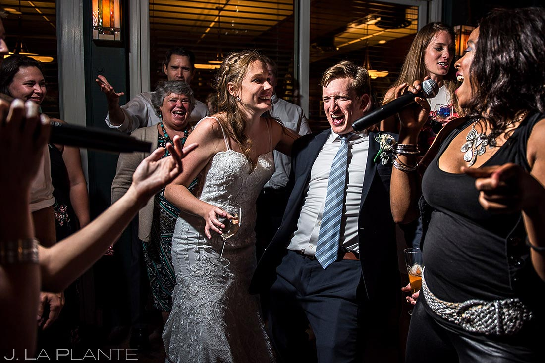 Bride and Groom Dancing with Wedding Band | Greenbriar Inn Wedding | Boulder Wedding Photographer | J. La Plante Photo