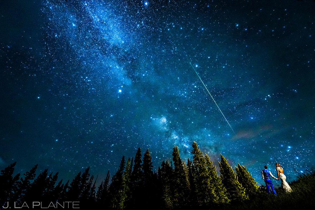 Bride and Groom Under the Milky Way | Purgatory Resort Wedding | Durango Wedding Photographer | J. La Plante Photo