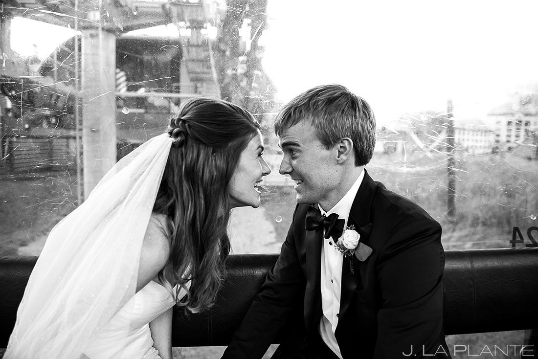 Bride and Groom Riding Gondola | Park Hyatt Beaver Creek Wedding | Beaver Creek Wedding Photographer | J. La Plante Photo