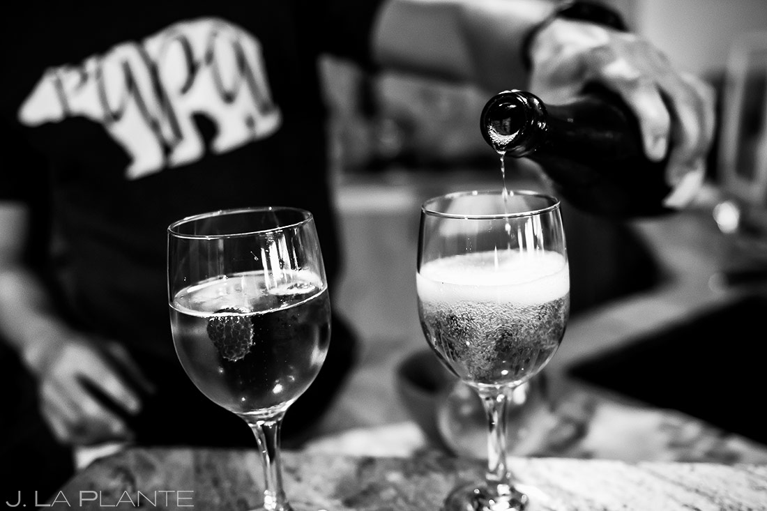Champagne Before Wedding | Steamboat Springs Wedding | Colorado Wedding Photographer | J. La Plante Photo