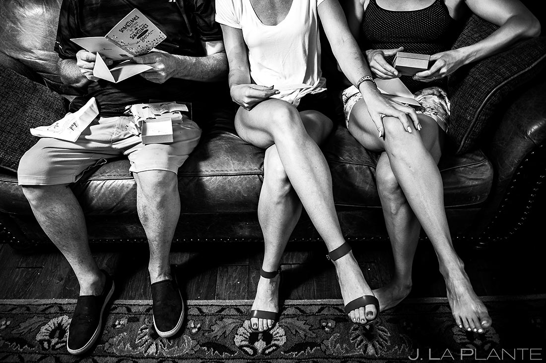 Bride Giving Gifts | Steamboat Springs Wedding | Colorado Wedding Photographer | J. La Plante Photo