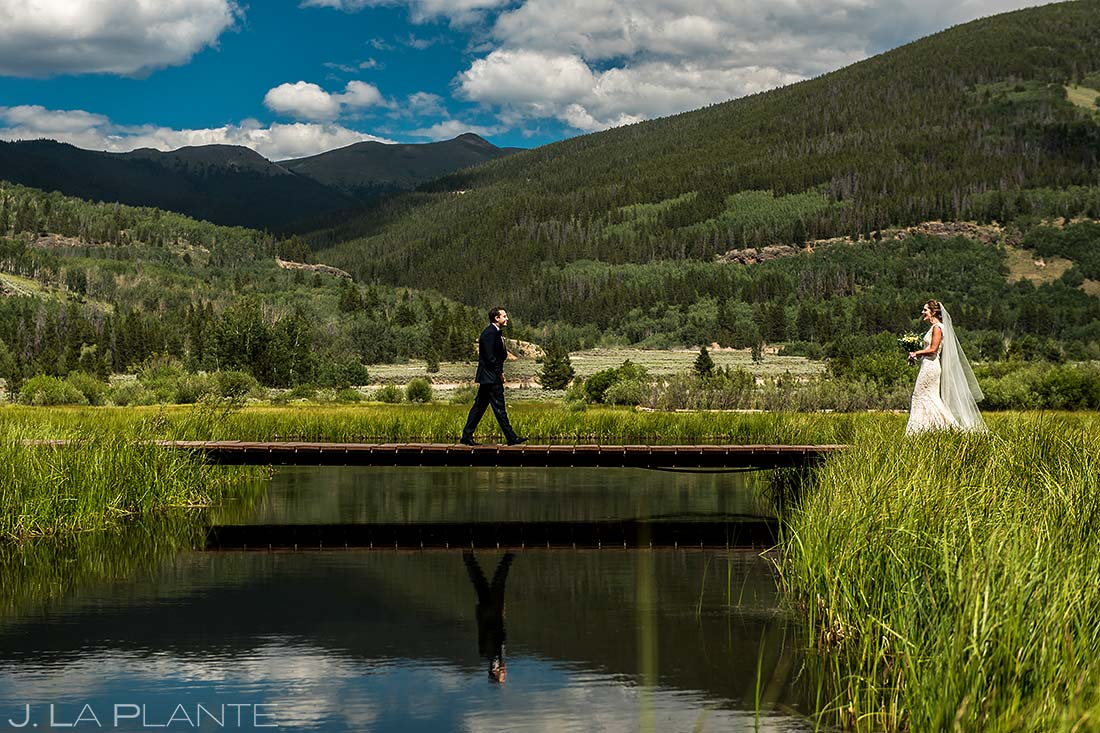Bride and Groom First Look | Camp Hale Wedding | Vail Wedding Photographer | J. La Plante Photo