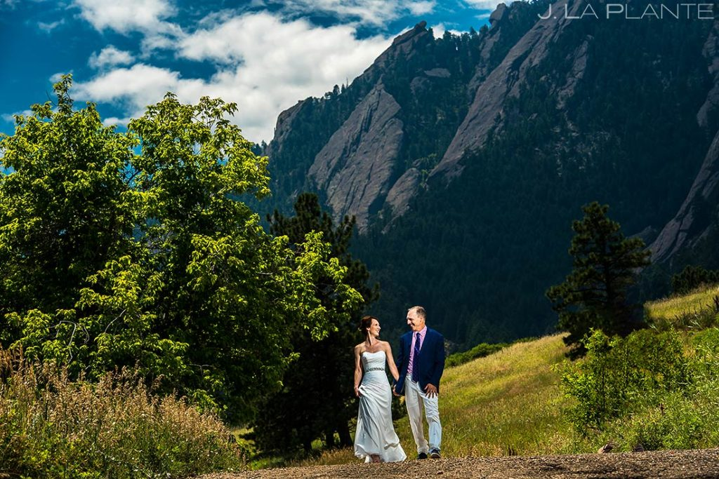 Bride and Groom in Chautauqua Park | Chautauqua Park Wedding | Boulder Wedding Photographer | J. La Plante Photo