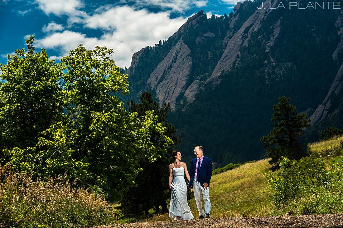 Bride and Groom in Chautauqua Park | Chautauqua Park Wedding | Boulder Wedding Photographer | J. La Plante Photo