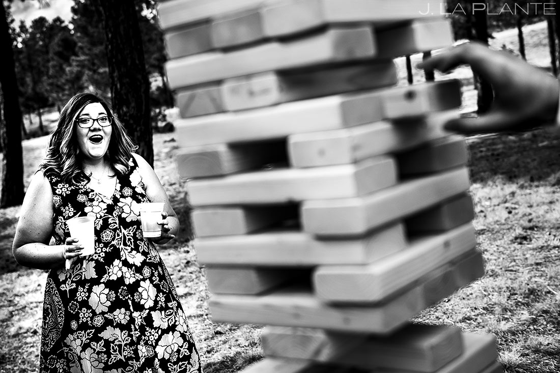 Wedding Reception Lawn Games   Lodge at Cathedral Pines Wedding   Colorado Springs Wedding Photographer   J. La Plante Photo