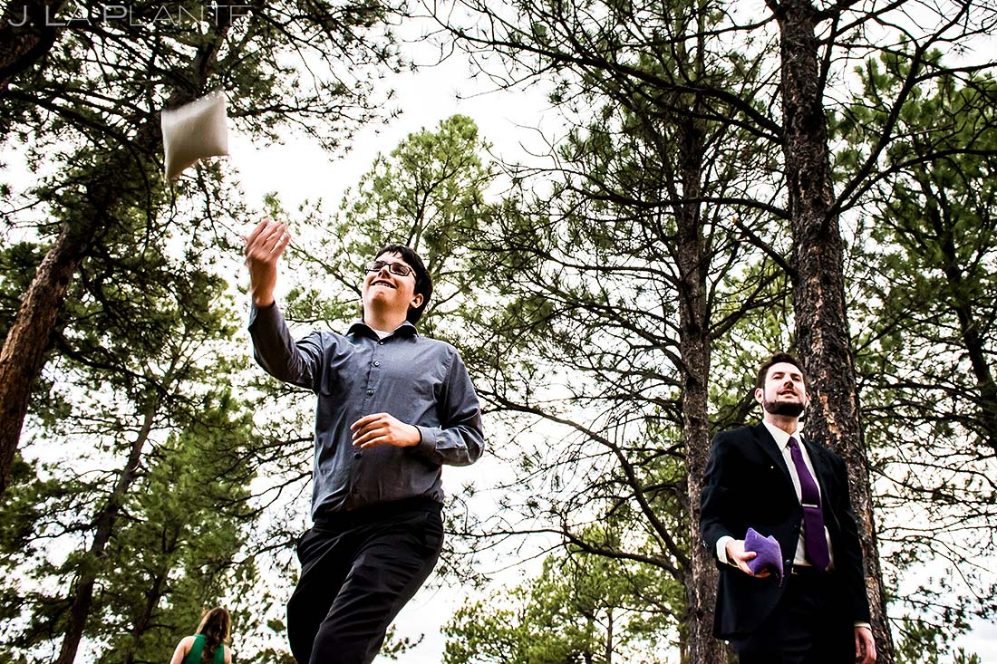 Wedding Reception Lawn Games   Colorado Springs Wedding Photographer   J. La Plante Photo