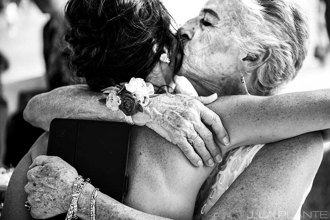 Bride Hugging Grandmother | Boulder Wedding Photographer | J. La Plante Photo