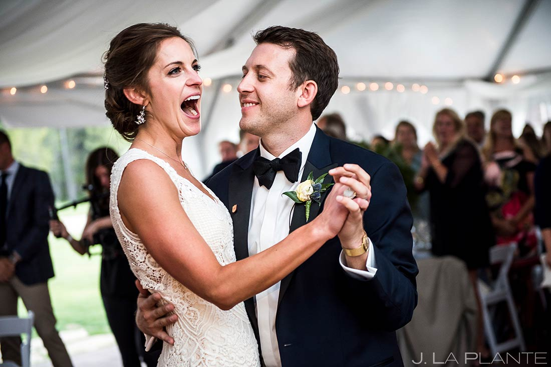 Bride and Groom First Dance | Camp Hale Wedding | Vail Wedding Photographer | J. La Plante Photo