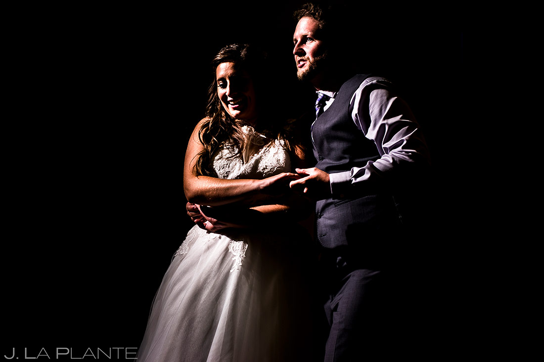 Bride and Groom First Dance | Lodge at Cathedral Pines Wedding | Colorado Springs Wedding Photographer | J. La Plante Photo
