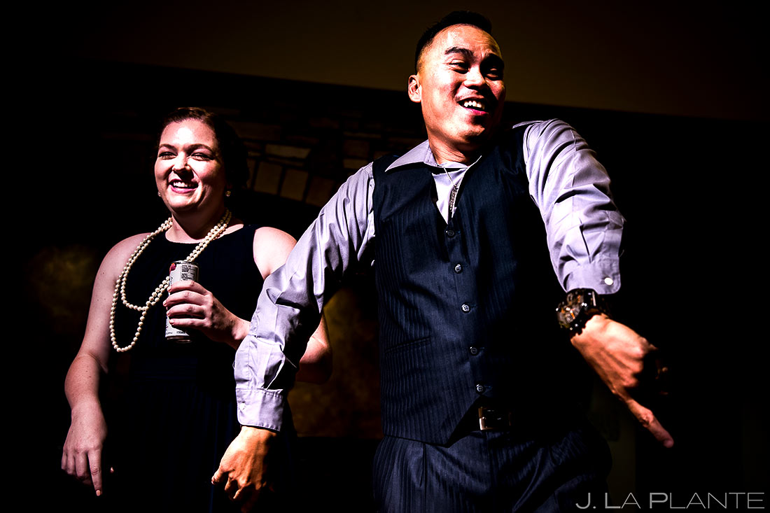 Wedding Reception Dance Party   Lodge at Cathedral Pines Wedding   Colorado Springs Wedding Photographer   J. La Plante Photo