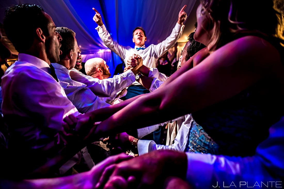 Father of the Bride Crowd Surfing | Camp Hale Wedding | Vail Wedding Photographer | J. La Plante Photo