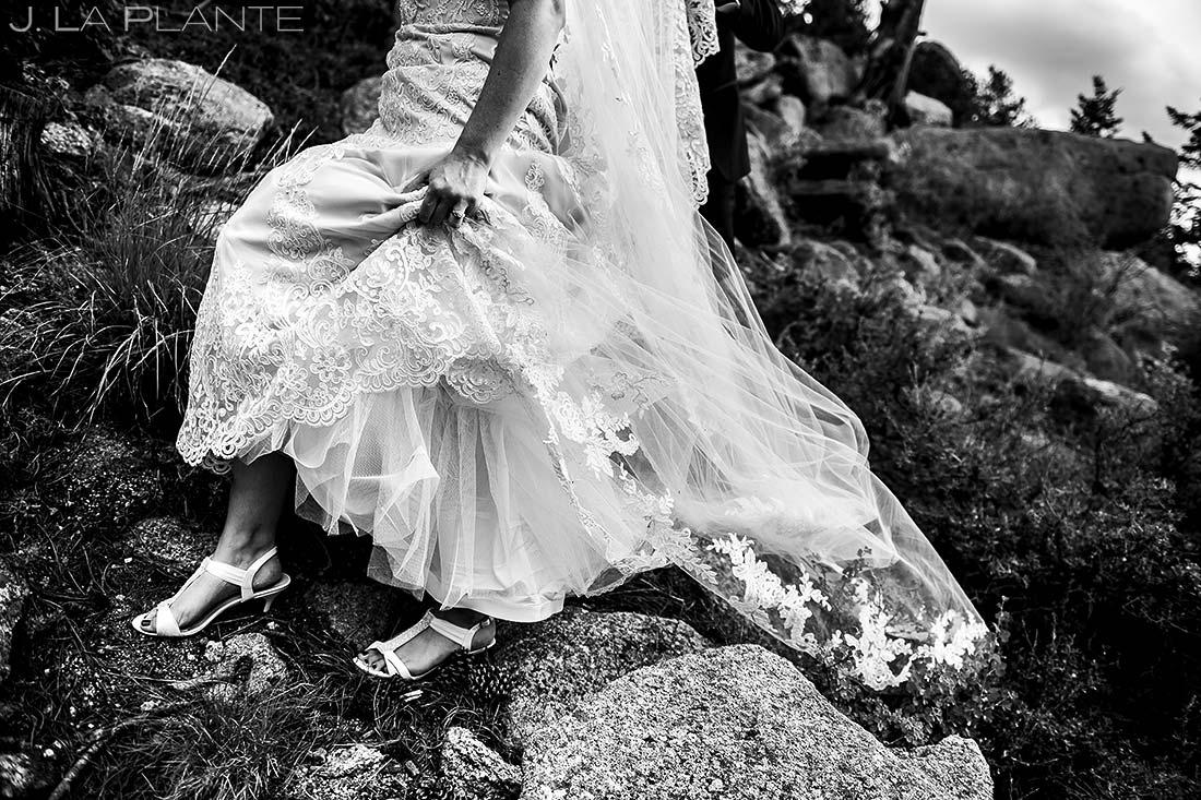 Wedding Dress Details | Estes Park Wedding Photographer | J. La Plante Photo