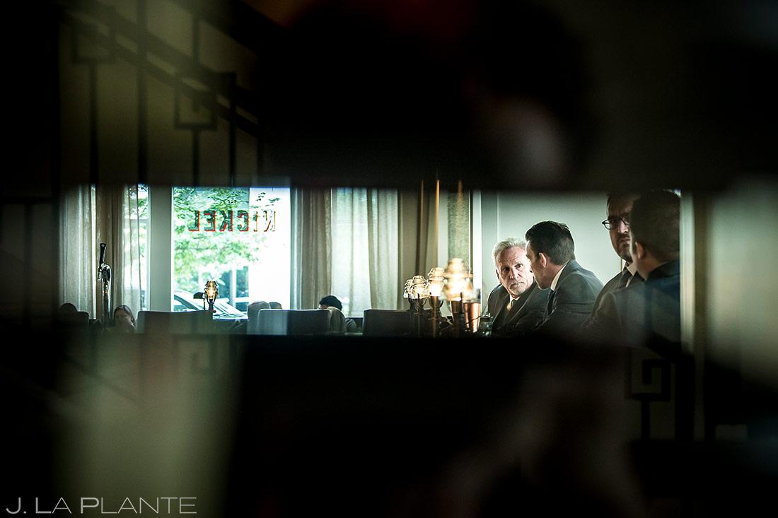 Groom Drinking with Father at Bar | Denver Botanic Gardens Wedding | Denver Wedding Photographer | J. La Plante Photo