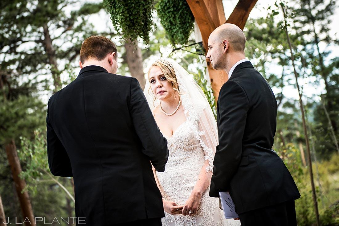 Mountain Wedding Ceremony | Della Terra Wedding | Estes Park Wedding Photographer | J. La Plante Photo