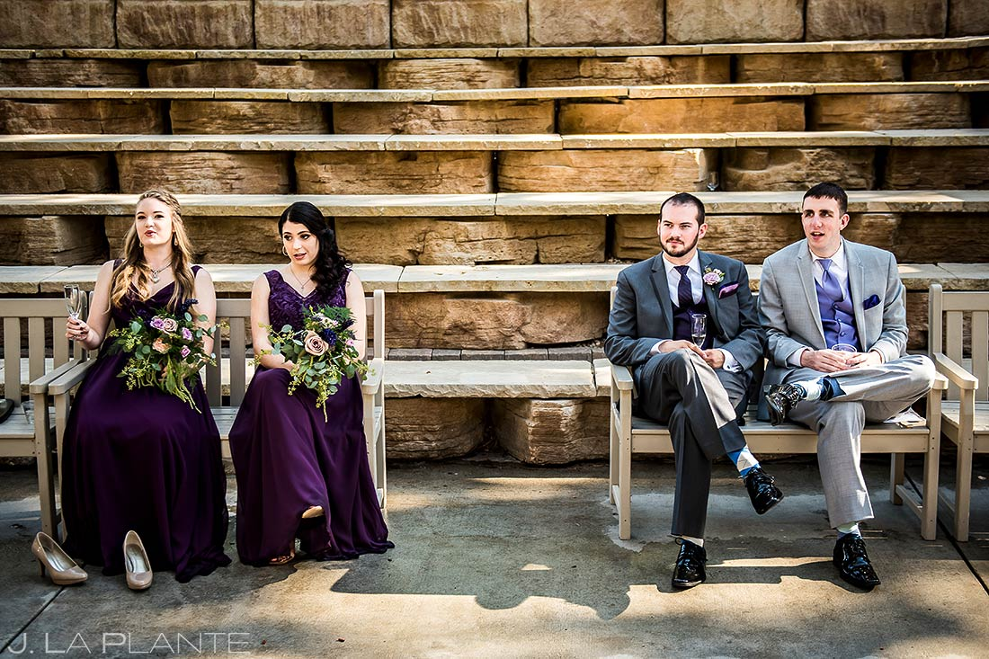 Wedding Party Hanging Out | Della Terra Wedding | Estes Park Wedding Photographer | J. La Plante Photo
