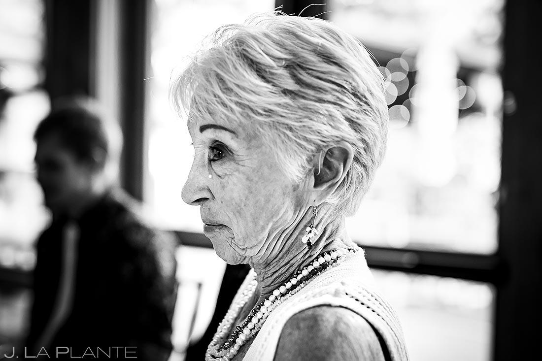 Bride's Grandmother Crying | Estes Park Wedding Photographer | J. La Plante Photo