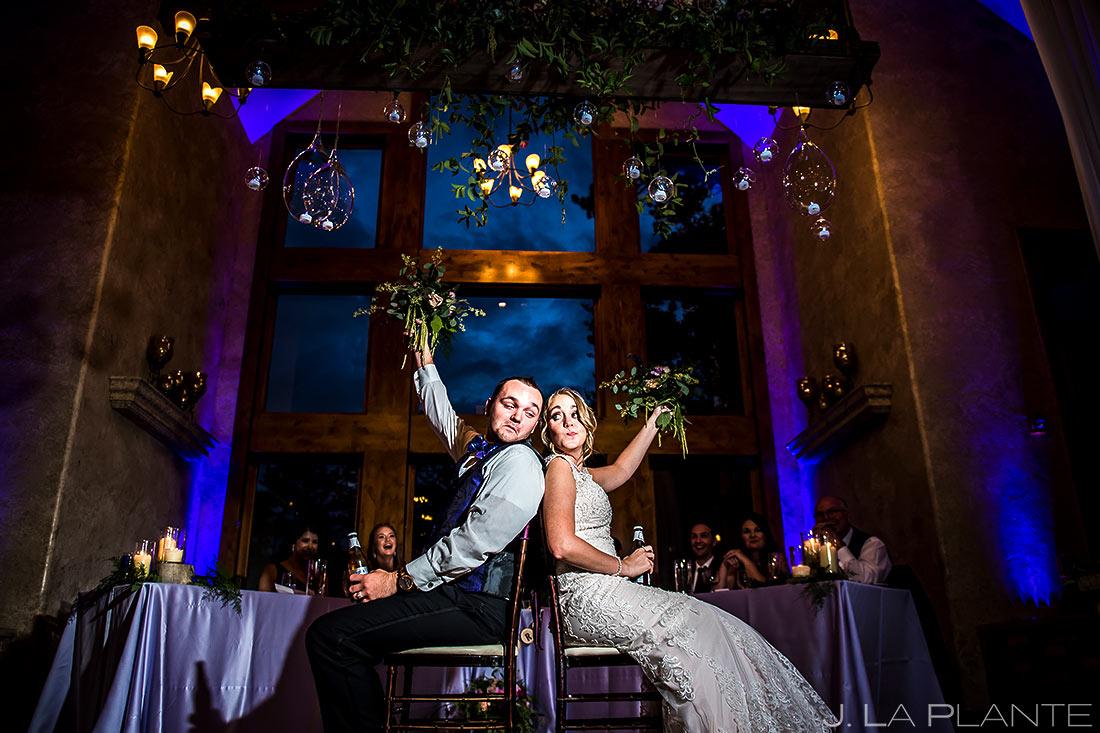 Bride and Groom Shoe Game | Della Terra Wedding | Estes Park Wedding Photographer | J. La Plante Photo