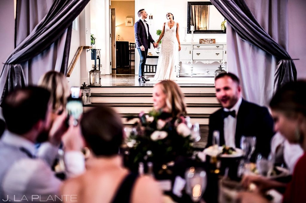 Bride and Groom Reception Entrance | Manor House Wedding | Denver Wedding Photographer | J. La Plante Photo