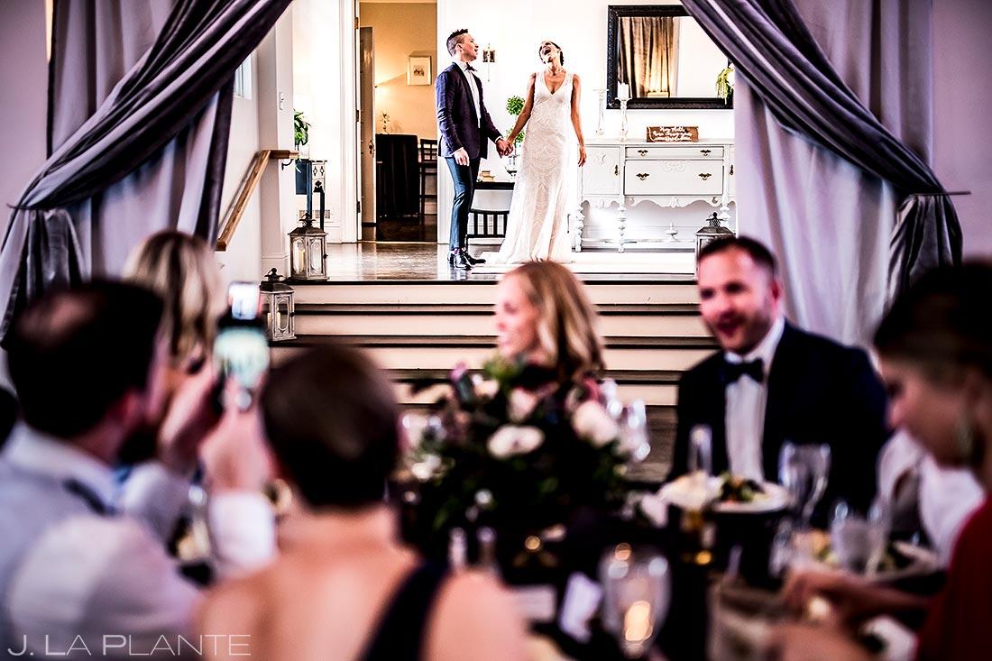 Bride and Groom Reception Entrance | Manor House Wedding | Denver Wedding Photographer | J. La Plante Photo