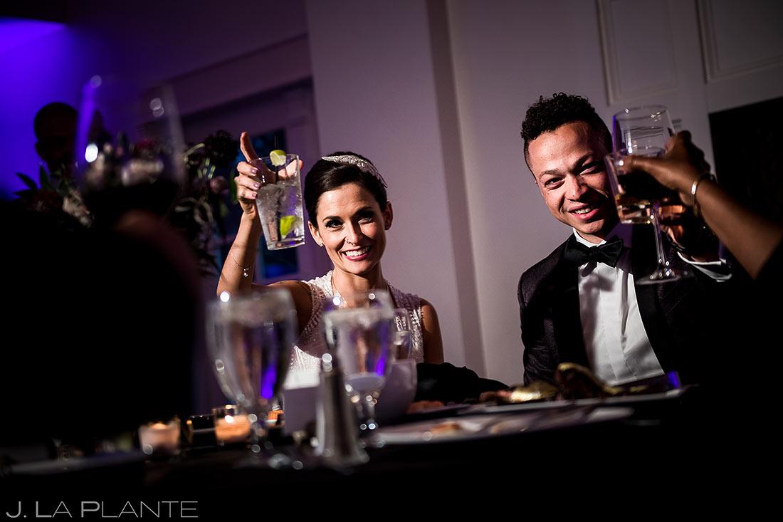 Wedding Reception Toasts | Littleton Colorado Wedding | Denver Wedding Photographer | J. La Plante Photo
