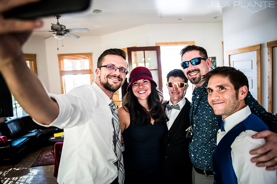 Groom Getting Ready | Rustic Mountain Wedding | Colorado Wedding Photographer | J. La Plante Photo