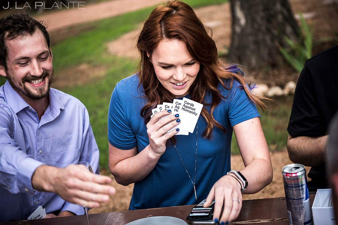 Wedding Guests Playing Cards Against Humanity | Dallas Wedding | Destination Wedding Photographer | J. La Plante Photo