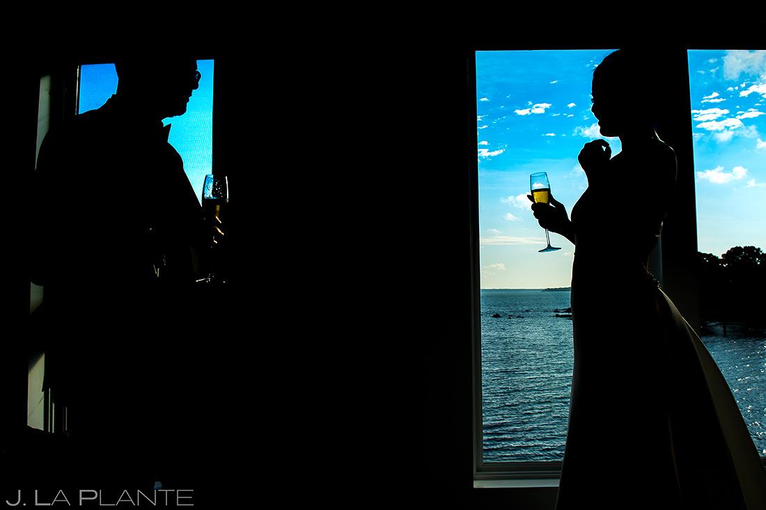 Bride and Groom First Look | Rhode Island Wedding | Destination Wedding Photographer | J. La Plante Photo