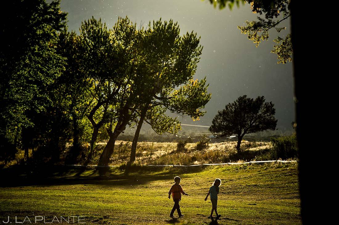 Wedding Kids | Rustic Mountain Wedding | Colorado Wedding Photographer | J. La Plante Photo