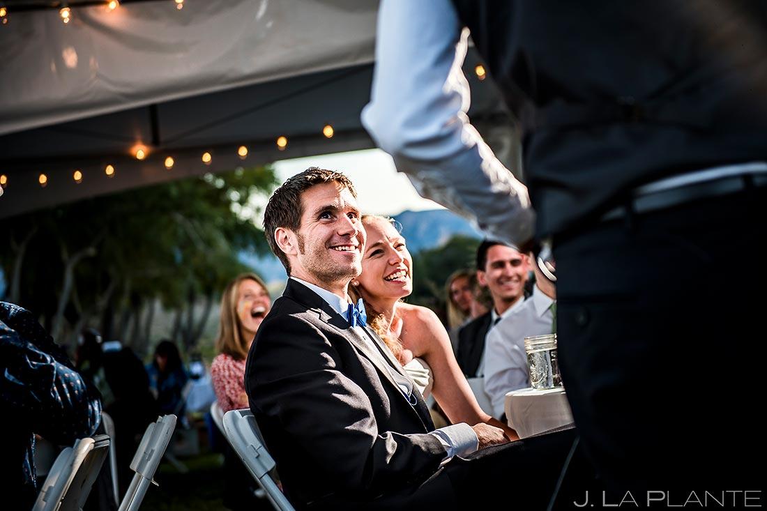 Wedding Toasts | Rustic Mountain Wedding | Colorado Wedding Photographer | J. La Plante Photo