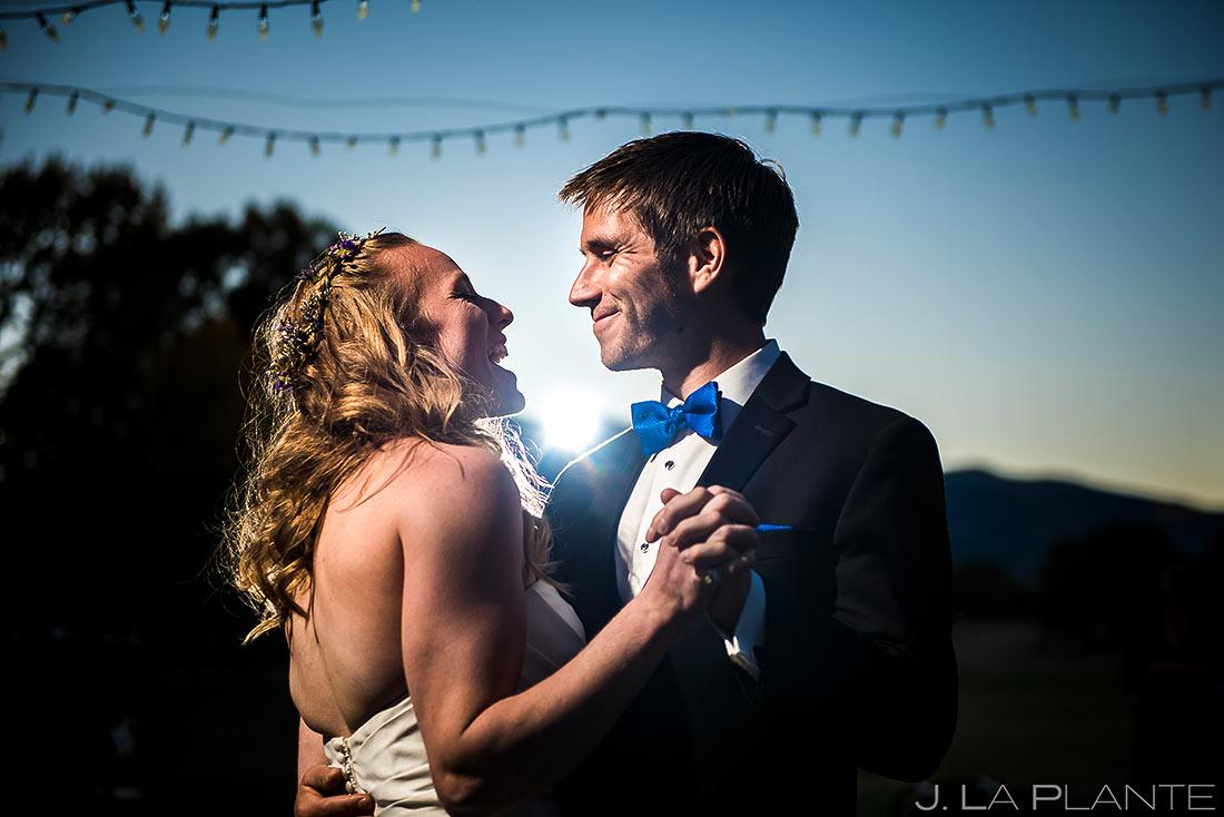 Bride and Groom First Dance | Buena Vista Wedding | Rustic Mountain Wedding | Colorado Wedding Photographer | J. La Plante Photo