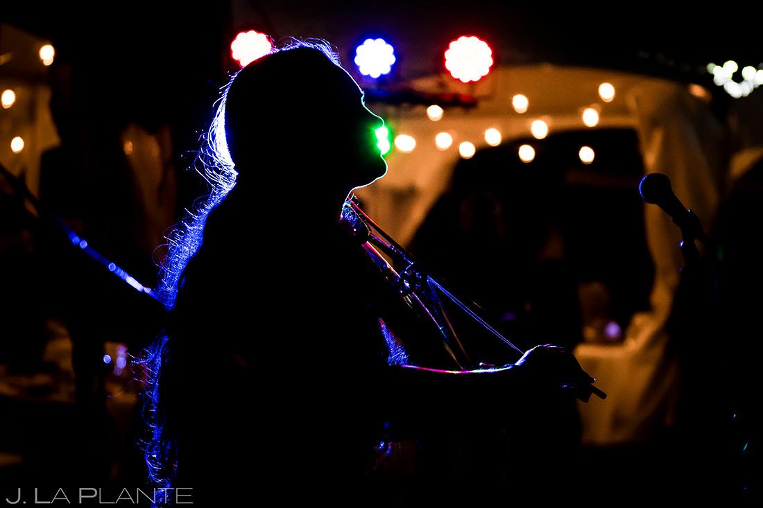 Wedding Reception Live Band | Rustic Mountain Wedding | Colorado Wedding Photographer | J. La Plante Photo