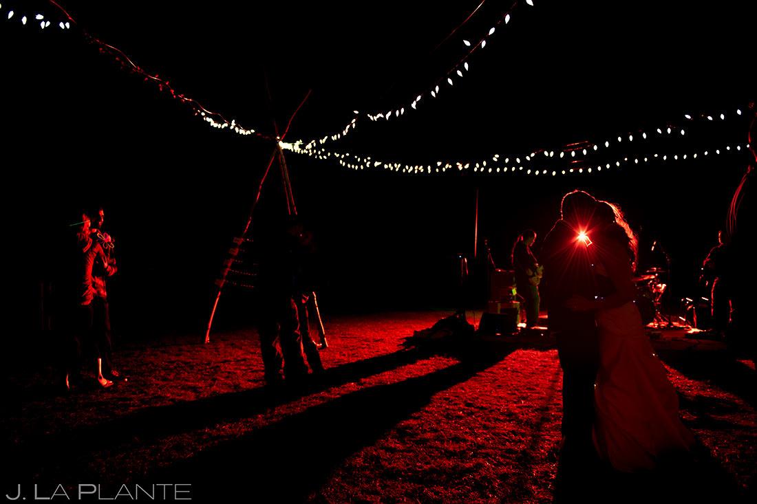 Wedding Reception Dance Party | Rustic Mountain Wedding | Colorado Wedding Photographer | J. La Plante Photo