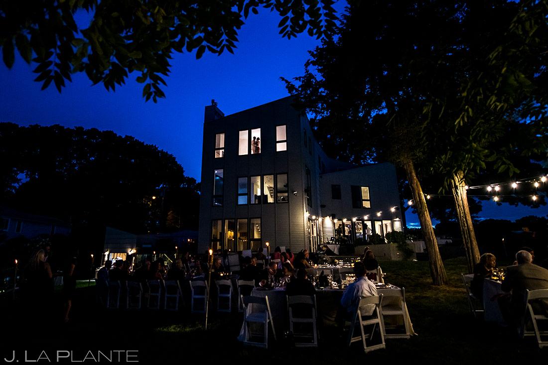 Bride and Groom Night Portrait | Rhode Island Wedding | Destination Wedding Photographer | J. La Plante Photo