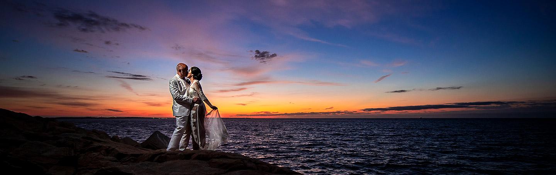 Sunrise Wedding Photo | Rhode Island Wedding | Destination Wedding Photographer | J. La Plante Photo