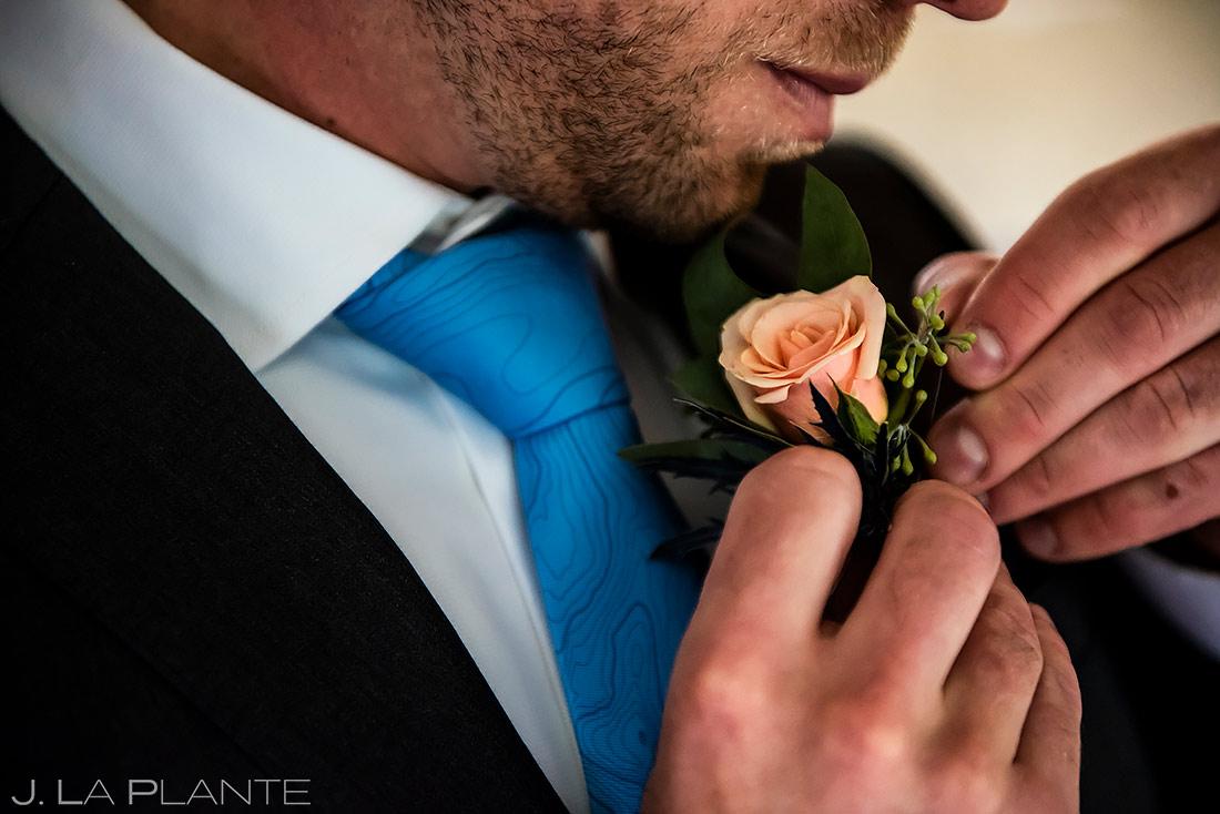 Groom Boutonniere   Boulder Wedding Photographer   J. La Plante Photo