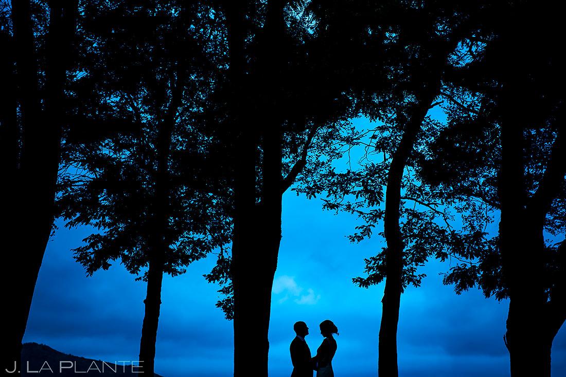 Bride and Groom Silhouette   Shupe Homestead Wedding   Boulder Wedding Photographer   J. La Plante Photo