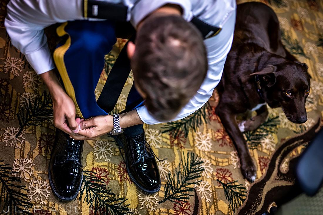 Groom Getting Ready | Cheyenne Mountain Resort Wedding | Colorado Springs Wedding Photographer | J. La Plante Photo