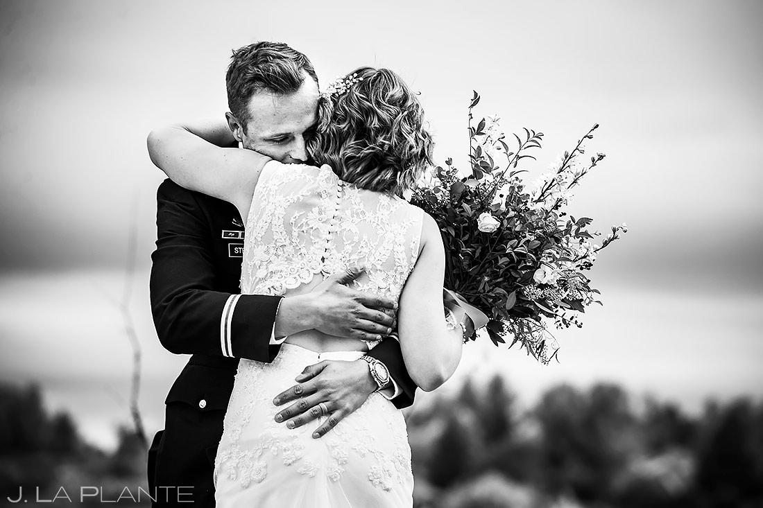 Bride and Groom First Look | Cheyenne Mountain Resort Wedding | Colorado Springs Wedding Photographer | J. La Plante Photo
