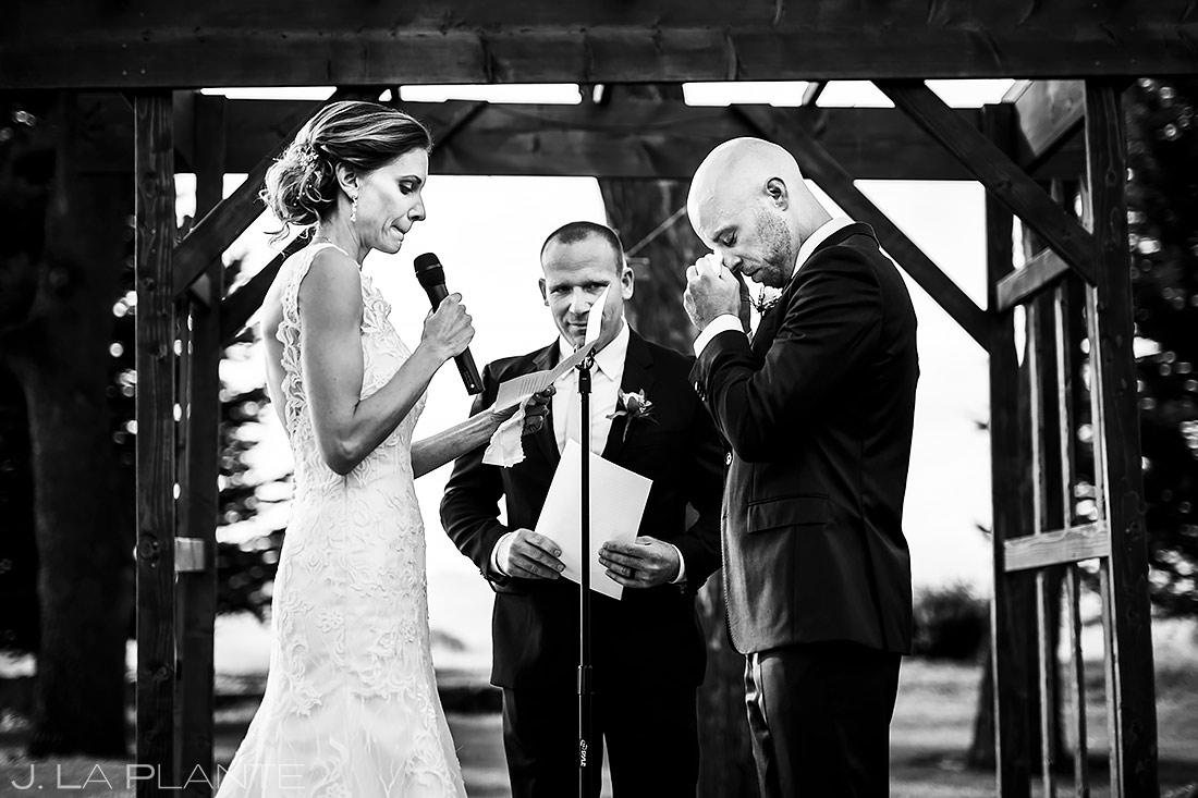 Rustic Outdoor Wedding Ceremony   Boulder Wedding Photographer   J. La Plante Photo