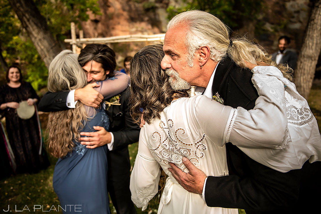 Outdoor Wedding Ceremony | Planet Bluegrass Wedding | Boulder Wedding Photographer | J. La Plante Photo